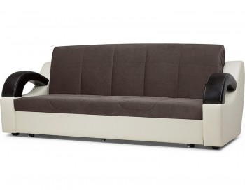 Прямой диван Мадрид Плюш Дарк Браун