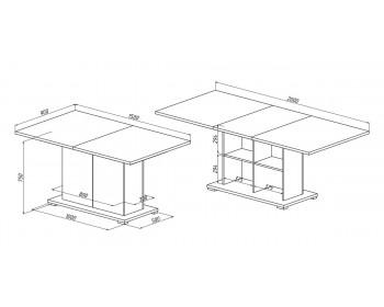 Кухонный стол Куба 1712.М3