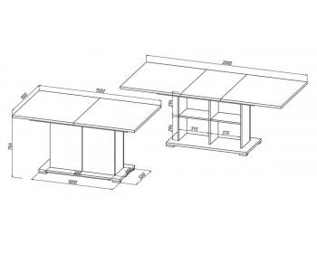 Кухонный стол Сахара 1913.М1
