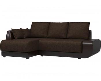 Кожаный диван Нью-Йорк Кантри Браун