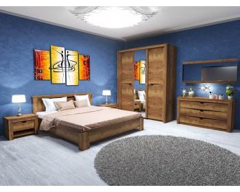 Спальный гарнитур в цвете Дуб Галифакс табак
