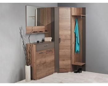 Распашной шкаф Ханна в цвете Дуб Галифакс табак