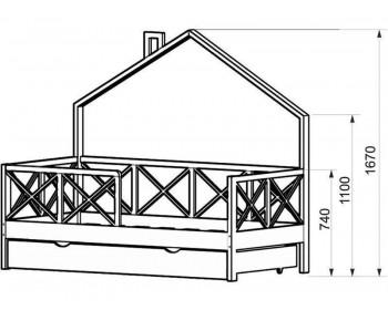 Кровать детская Домик-2