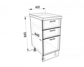 Кухонный гарнитур Тумба напольная 40 с 3-мя ящиками Люкс