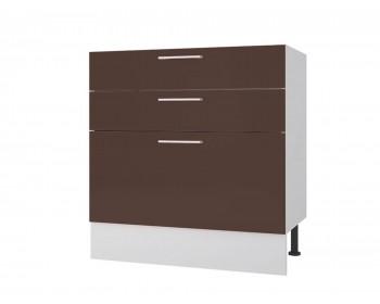 Кухонный гарнитур Тумба напольная 80 с 3-мя ящиками Люкс