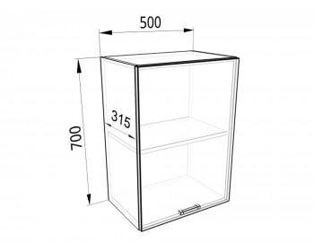 Шкаф-пенал навесной 50 Европа