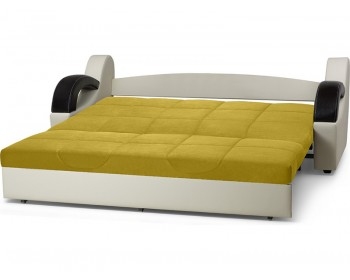 Прямой диван Мадрид Плюш Мастард