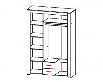 Распашной шкаф Квадро-1