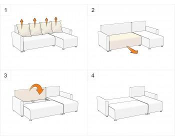 Кожаный диван Комфорт Беж