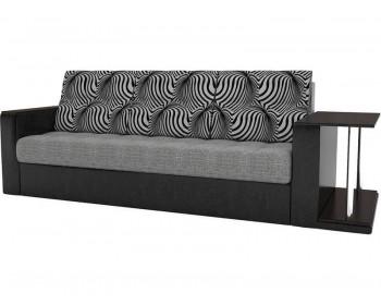Прямой диван Атланта-Эконом Изи Блэк со столиком