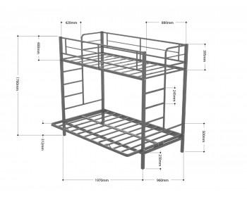 Кровать Дакар 1 (90х190/120х190)