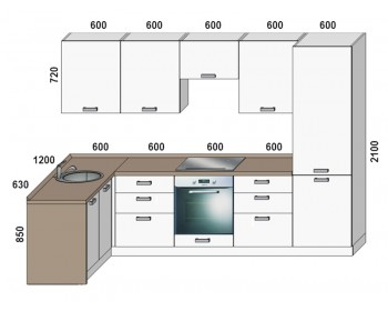 Кухонный гарнитур Микс-2