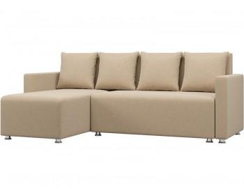 Угловой диван Каир Крем с подлокотниками