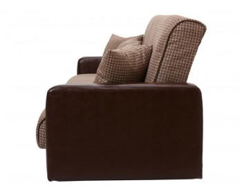 Кожаный диван Лондон Вудлайн Браун