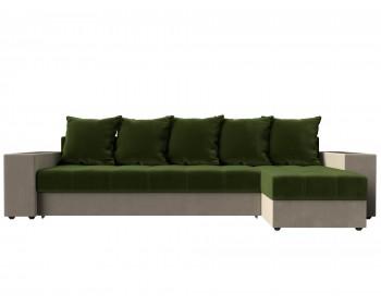 Кожаный диван Угловой Дубай Правый