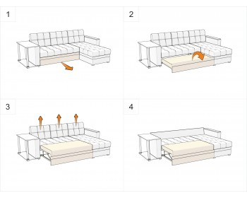 Диван угловой Атланта-Эконом Мальта Браун со столиком