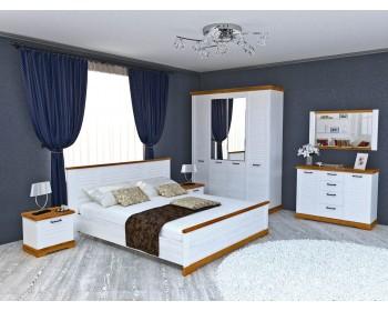 Спальный гарнитур Кантри в цвете Орех Рибек натуральный