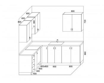 Кухонный гарнитур Лайф-3