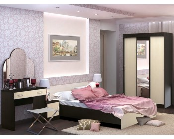 Спальный гарнитур Бася в цвете Венге