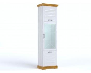 Шкаф-пенал Кантри в цвете Орех Рибек натуральный