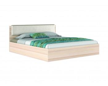 """Кровать с кожаным изголовьем """"Эко узор"""" 180.2 (Дуб"""