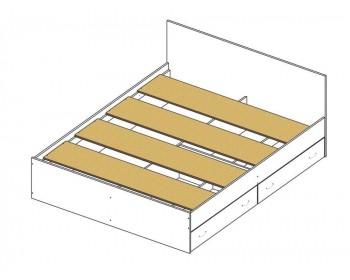 Кровать Виктория ЭКО узор 180 с ящиками (Венге/Дуб) светлый с
