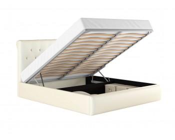 """Кровать Мягкая белая двуспальная """"Амели"""" 1800 с подъем"""