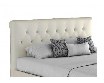 """Мягкая белая двуспальная кровать """"Амели"""" 1800 с"""