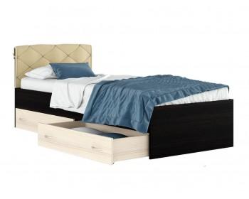 """Кровать Односпальная """"Виктория-П"""" с ящиками и подушкой"""