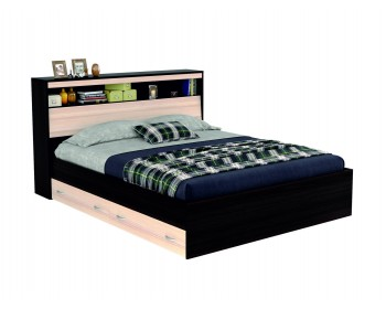 """Кровать Двуспальная """"Виктория"""" 1600 с откидным блоком"""