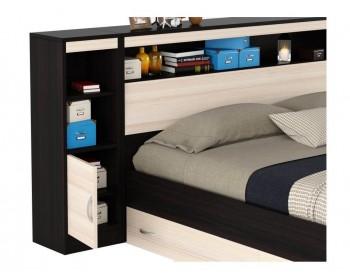 """Двуспальная кровать """"Виктория ЭКО"""" 1800 с блоком, ящиками"""