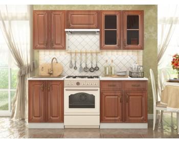 Кухонный гарнитур Ника в цвете Итальянский орех