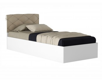 Кровать Виктория-П 90 белая с матрасом Promo B Cocos