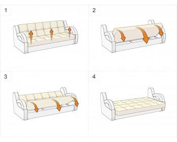 Прямой диван Кабуки