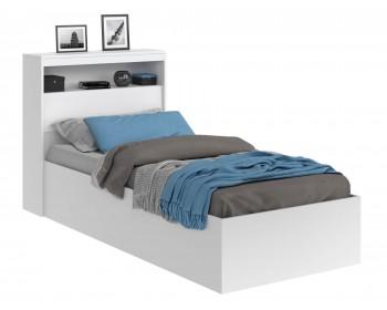 Кровать Виктория белая 90 с блоком и матрасом ГОСТ