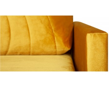 Прямой диван Киото с декоративной стежкой