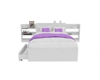 Кровать Доминика с блоком и ящиками 120 (Белый) с матрасом ГОСТ