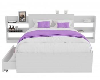 Кровать Доминика с блоком и ящиками 120 (Белый) с матрасом PROMO B COCOS