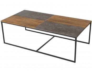 Стол журнальный Фьюжн дуб американский/серый бетон