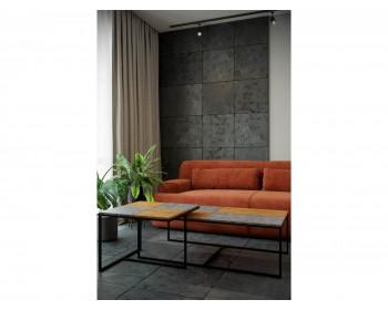 Стол журнальный Фьюжн квадро дуб американский/серый бетон