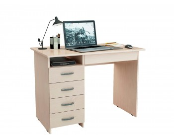Стол письменный Милан-1 (0120) дуб молочный