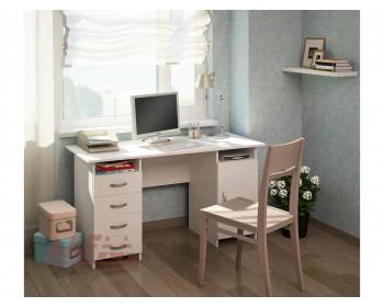 Стол письменный Милан-7 (0120) белый