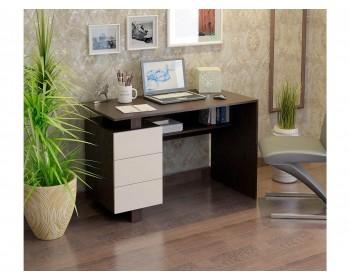 Стол компьютерный Ренцо-2 венге / дуб молочный