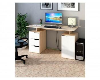 Стол компьютерный Нейт-3 дуб сонома / белый