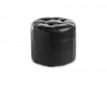 Банкетка Пуф ПФ-7 (круглый) черный