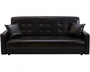 Кожаный диван Престиж Черный-140