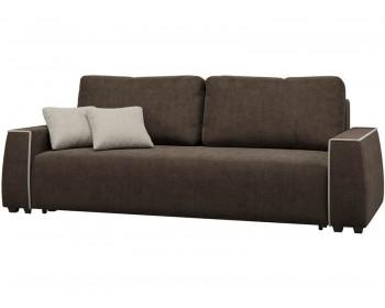 Прямой диван Манхэттен Плюш Шоколад 2