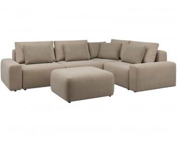 Модульный диван Гунер-1 Плюш Мокко нераскладной