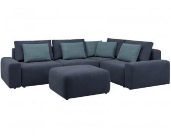 Модульный диван Гунер-1 Плюш Кобальт нераскладной