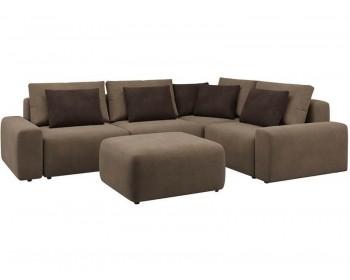 Модульный диван Гунер-1 Плюш Хазел нераскладной